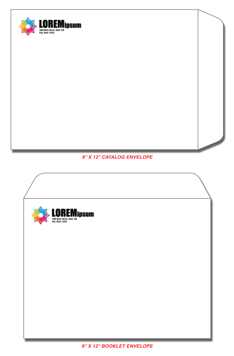 Fidelity Press And Graphics Order Printing - 9x12 booklet envelope template